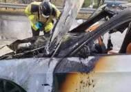 제2경인고속도로 달리던 BMW 차량 화재…운전자 대피
