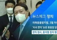 [뉴스체크|정치] 현직 검사, 윤석열 정치적 행보 우려