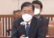 """정의용 """"일 오염수, 사법적 대응 검토 이전부터 논의"""""""