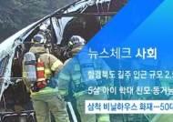 [뉴스체크|사회] 삼척 비닐하우스 화재…50대 화상