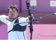 """개인전 16강 진출 실패한 오진혁 """"변명 같지만 바람이 너무했다"""""""
