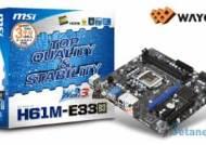 샌디브릿지 HTPC, 웨이코스 `MSI H61M-E33(B3))` 메인보드 선보여