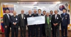 LIG넥스원, 콜롬비아 '한국전 참전용사회'에 3만달러 기부