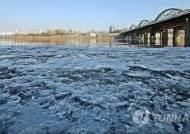 영하의 강추위속 올 겨울 첫 '한강결빙' 관측