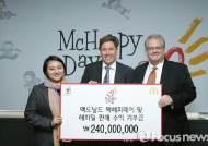 맥도날드, 소아암 환우 위해 2억4천만원 기부