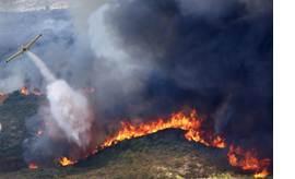 스페인 산불…1000여명 대피 [AP=뉴시스]