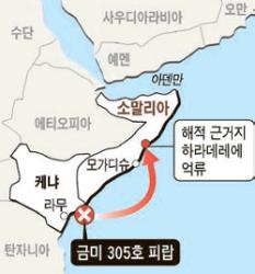 한국인 2명 탄 어선, <!HS>소말리아<!HE> <!HS>해적<!HE>에게 또 피랍