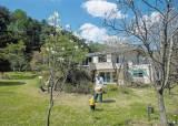 초가를 닮은 창 많은 집, 앞뒤 풍경이 실내로 우르르