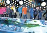 """바다 위 체험 부스 … 6m 미역 앞선 """"와"""" 탄성"""