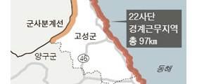 """22사단 경계선 97㎞, 인근 사단 6배 """"해안은 해병대나 다른 부대 맡겨야"""""""