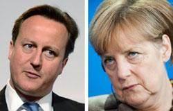 """캐머런 """"이민자 유입 제한하자"""" 메르켈 """"차라리 EU를 떠나라"""""""