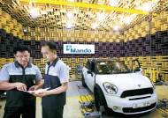 만도, 글로벌 자동차 브랜드에 핵심부품 공급