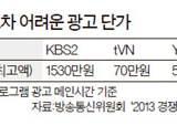 15초 <!HS>광고<!HE>, KBS 1500만원 케이블 70만원인데 …