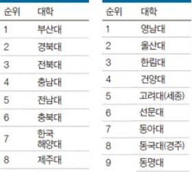 [2015 대학평가] 지역 국공립 부산대, 지역 사립 영남대 1위