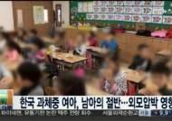 한국 과체중 여아, 남아의 절반... 비만아동 증가 추세 '적신호'