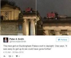 [국제] 버킹엄궁 뚫고 지붕시위 펼친 부권단체