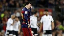 빛바랜 메시의 <!HS>500호골<!HE>…FC 바르셀로나, 발렌시아에 충격패