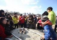 '구석기 바비큐' 체험하는 연천군 전곡리 축제 개막