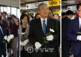 [포토사오정] 정치인들, 구의역 사고현장 앞다퉈 방문