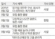 송희영 전 주필 '대우조선 유럽 출장' 전후 김진태가 우호적이라고 주장한 기사는 …