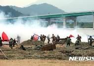 칠곡 낙동강전승기념식서 폭약 사고로 군인 2명 화상