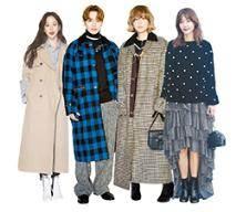 품 넉넉한 원색 롱코트·재킷 체크 무늬 치마·원피스