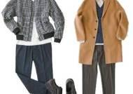 잔잔한 체크 무늬 재킷, 어깨 각 살린 코트