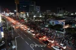 [11.12, 100만의 함성] 전국 곳곳에서 수만명 촛불 밝혀