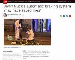 """獨 당국 """"트럭 자동 브레이크 시스템이 더 큰 테러 피해 막아"""""""