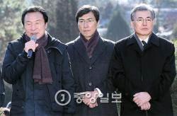 김근태 5주기 추모식에 야권 대선주자 총집결