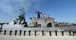 부산에 들어온 러시아 해군 쿠릴열도 영토분쟁 일본에 간다