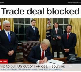 트럼프, <!HS>TPP<!HE> 탈퇴 서명…보호무역주의 본격화