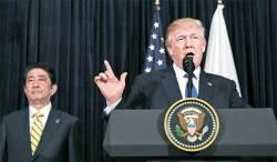트럼프, 아베엔 안보동맹 선물 … 중국엔 환율전쟁 경고장