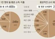 [오늘의 데이터 뉴스] 보통사람, 한달 468만원 벌어 245만원 소비