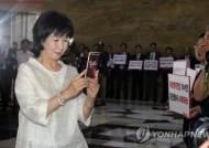 """손혜원 """"문자 폭탄 아닌 '문자 행동'…참여민주주의 새 지평"""""""