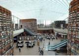 13m 높이 책장이 셋, 강남 쇼핑몰 곁에 들어선 복합문화공간