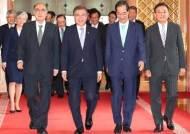 文 대통령, 韓美 정상회담 앞두고 문정인·임동원 만났다