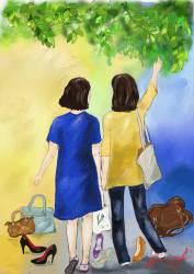 여자의 자존심 하이힐·핸드백과 이별한 중년 친구들