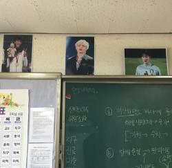 손흥민·이승우, 교실에 BTS 뷔와 동렬…한국축구 아이돌급 인기