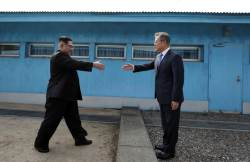 [<!HS>서소문사진관<!HE>]문재인 대통령-김정은 위원장. 세번의 만남