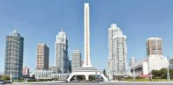 남북 정상의 빌딩숲 카퍼레이드…'평양의 맨해튼' 여명거리