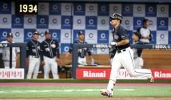 '42호 홈런' 김재환, 두산 최다 홈런 타이기록