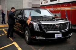 [서소문사진관]'달리는 <!HS>백악관<!HE>' <!HS>트럼프<!HE> 대통령의 새로운 전용차량 공개