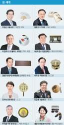 박원순 '옥탑방 부채' 황창규 '매산 도록' 김병준 '대장경 목판'
