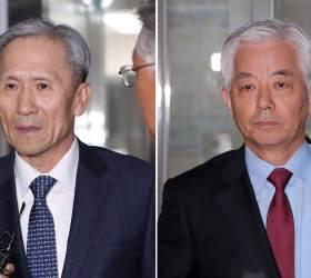 '계엄령문건' 의혹 한민구·<!HS>김관진<!HE>, 검찰 고강도 조사 받고 귀가