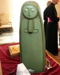 <!HS>문재인<!HE> 대통령이 교황에게 선물한 성모마리아상 공개