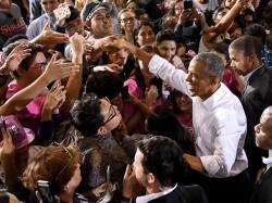 [사진] <!HS>오바마<!HE>, 민주당 지원 유세