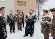 [서소문사진관] 눈사람 된 김정은···19일 만에 삼지연 방문 공개