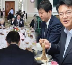 """정진석, '냉면' 사진 올리며 """"여당 물타기 애처롭다"""""""