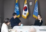 """방한 후 정우성 만난 앤젤리나 졸리 """"난민 옹호 고마워"""""""